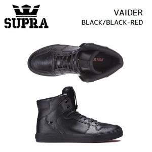 スープラ  SUPRA VAIDER BLACK/BLACK-RED (08201-081) 2020/SS スニーカー スケート golgoda