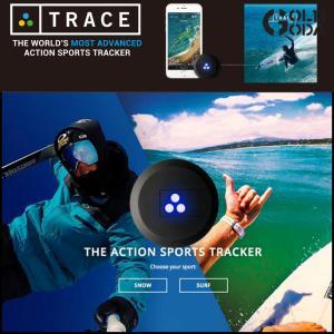 値下げしました!TRACE/トレース アクションスポーツトラッカー GPSでサーフィンやスノーボードの軌跡を記録します 送料無料の商品画像|ナビ