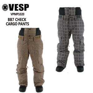 予約 べスプ VESP BB7 CHECK CARGO PANTS (VPMP1020) 21-22 パンツ スノーボード ウェアー スノボーウェア メンズ レディース|golgoda