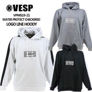 予約 ベスプ 19-20モデル VESP WATER PROTECT CHECKERED LOGO LINE HOODY (VPMS19-21) 撥水 パーカー スエット スノーボード スノボ
