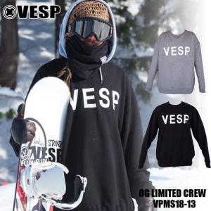 18-19モデル VESP ベスプ  OG Limited CREW クルーネック VPMS18-13 スエット トレーナー スノーボード ウェアー スノボ