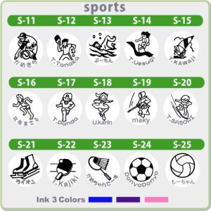 ゴルフボール スタンプ ゴルはん スポーツイラストシリーズ(補充インク付)メール便では送料は無料です.|golhan|02