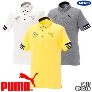 プーマ ゴルフ メンズ 半袖 ポロシャツ ボタンダウン 杢カラー トリコロールリブ 923526...