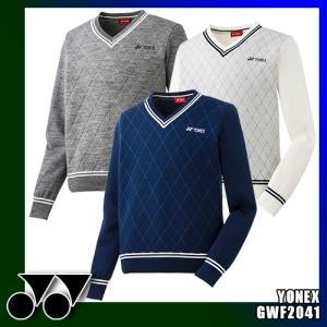 ヨネックス メンズ Vネックセーター ダイヤ柄 GWF2041