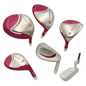 【女性用】マルマンゴルフ フェリアレディースゴルフセット 10本セット(W1、W4、W7、U5、No7〜9、PW、SW、PT)FERIA|golkin