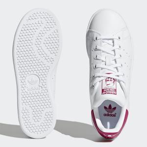 アディダスオリジナルス スニーカー adidas originals STAN SMITH J スタンスミス J ホワイト/ピンク レディースシューズ B32703|golkin|04