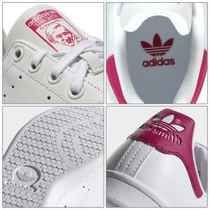 アディダスオリジナルス スニーカー adidas originals STAN SMITH J スタンスミス J ホワイト/ピンク レディースシューズ B32703|golkin|05