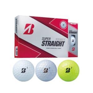 ブリヂストンゴルフ スーパーストレート ゴルフボール SUPER STRAIGHT メンズゴルフボール 1ダース [12球入り] golkin