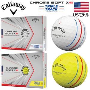 【USモデル】 2021年 キャロウェイ クロムソフト X LS トリプルトラック ゴルフボール 1...