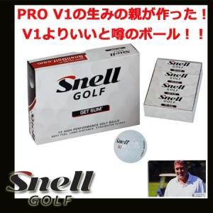 【USモデル】 スネル ゲットサム ゴルフボール 1ダース (12球入り) Snell Golf GET SUM golkin