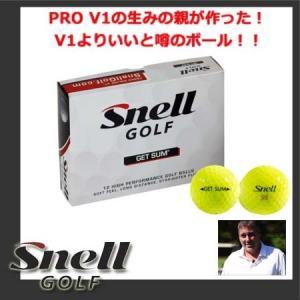 【USモデル】【イエロー】 スネル ゲットサム ゴルフボール 1ダース黄色 (12球入り) Snell Golf GET SUM? golkin