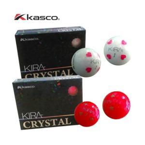 キャスコ キラ クリスタル ゴルフボール レディス ゴルフボール KIRA CRYSTAL [ホワイトハート/レッドスター] 1ダース [12球入り] golkin