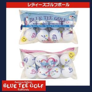 ブルーティーゴルフ ポーチ付 レディース ゴルフボール 8球入 BLUE TEE GOLF golkin