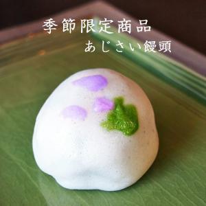 あじさい饅頭 つぶあん 個包装 1個 紫陽花 和菓子 季節限定商品 gomadaremochi