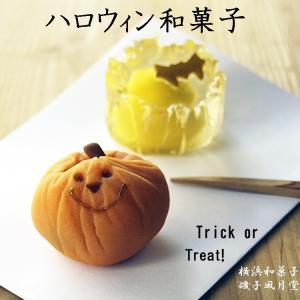 ハロウィン 和菓子 練り切り かぼちゃ 月に蝙蝠上生菓子詰合せ 2個入 ギフト指定可|gomadaremochi