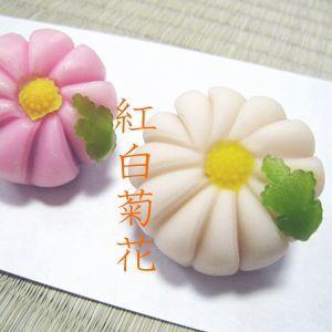 七五三・内祝.お返し・紅白菊花・秋冬の上生菓子・スイーツギフト・詰め合わせ6個入り|gomadaremochi