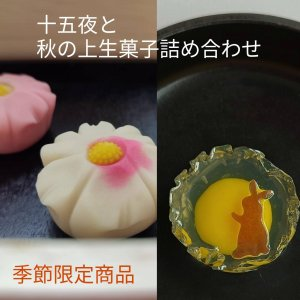 十五夜,秋の上生菓子,月うさぎ上生菓子詰め合せ8個入 ご贈答用化粧箱入|gomadaremochi