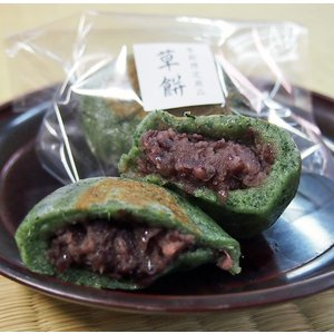 草餅 国産米使用 くさもち つぶあん入り 個包装1個|gomadaremochi