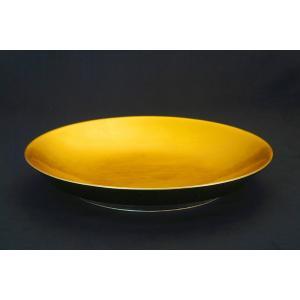 最高級おもてなし凛シリーズ「36cm黄金大皿」(L)|gomei