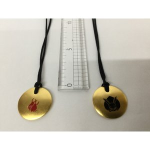 木製ペンダント「月にうさぎ」ゴールド(京くみひもモデル)|gomei