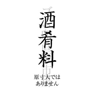 酒肴料 楷書 のし上用 スキナス...