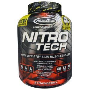 Nitro-Tech ニトロテック プロテイン ストロベリー味 1.8kg 海外直送品 送料無料