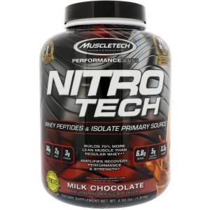 Nitro-Tech ニトロテック プロテイン ミルクチョコレート味  1.8kg 送料無料 海外直送品