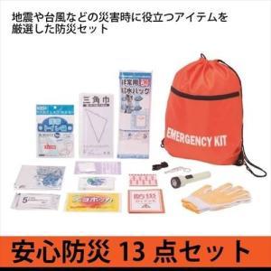 防災セット 13点セット 安全防災350 防災袋 非常用持ち...