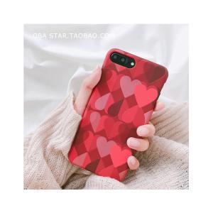 iPhoneX iPhone8 iPhone7 iPhone6s Plus おしゃれ かわいい ハート ケース ピンク LOVE 人気 可愛い スマホケース スマートフォンカバー|good-clothes