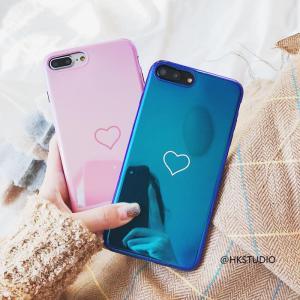 iPhoneX iPhone8 iPhone7 iPhone6s Plus ツヤ おしゃれ かわいい ハート デザイン ケース 人気 可愛い スマホケース スマートフォンカバー|good-clothes