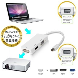 送料無料 ミニ ディスプレイポート サンダーボルト用 Mini  DisplayPort to HDMI DVI VGA 変換アダプタ Mini DP-DVI(24+1)ピン… good-eight