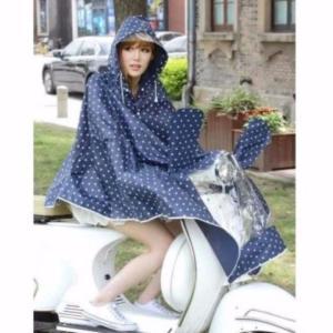 雨の日には この便利さが もう手放せません バイク 自転車 用 レインコート ポンチョ 型 ドット 柄 レインウェアー 雨具 カッパ… good-eight