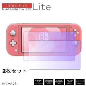 【スイッチ ライト】【2枚】Nintendo Switch light ガラスフィルム 【 ブルーラ...