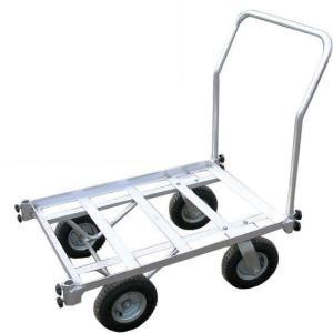 二輪固定・二輪自在のタイヤでカーブの道もスイスイ移動!  ●取っ手は前後どちらでも取り付け可能です。...