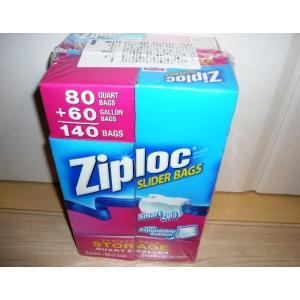 Ziplocジップロック スライダーバッグ クオート80枚・ガロン60枚 140枚 入り ポイント交...