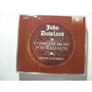 Dowland / Complete Music for Solo Lute / Jakob Lindberg : 4 CDs // CD