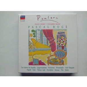 Poulenc / Piano Works, Chamber Music / Pascal Roge : 5 CDs // CD