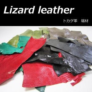 天然 トカゲ革 はぎれ 袋詰め アソート 100g 端材 リザード レザークラフト 小物アクセのワンポイントに|good-s-plus