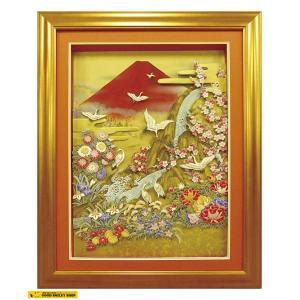【国内送料無料】 SHADOW BOX シャドウボックス 立体絵画 Three dimensional painting 山本有李子 Elle Club Art主宰 絵画 富士山 Mount Fuji|good-smiley