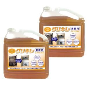 洗浄剤 グリーストラップの清掃に 厄介な汚れも一撃 送料無料 グリキレ 5kg2本セット|good-smiley