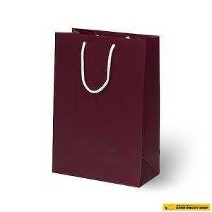 紙袋 手提げ ワインレッド 100枚セット|good-smiley