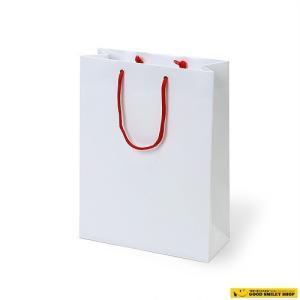 紙袋 手提げ 白 つやなし 100枚セット|good-smiley