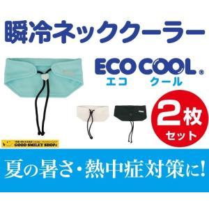 【レターパックライト対応】冷感 持続 瞬冷 ECO COOL ネッククーラー 2枚セット 日本製 ポリマー スポーツ アウトドア ゴルフ 野球 登山 勉強 仕事|good-smiley