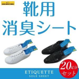 【国内送料無料】【レターパックライト対応】【2枚1組】【20セット】靴用消臭シート 足 靴 消臭 除菌 縦50ミリ 横180ミリ|good-smiley