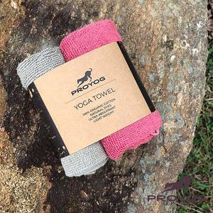 ヨガ タオル 2枚セット オーガニックコットン100% インドブランド 天然染め ピンク プロヨグ