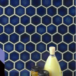 磁器質モザイクタイル 内装壁・外装壁用 ヘキサゴン2  送料無料