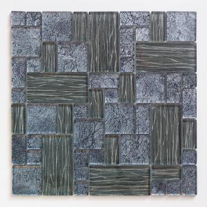ガラスモザイクタイル 壁用 ステンドモザイク ブルー (PTMH-4)|good-tile