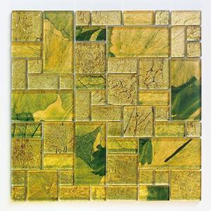 ガラスモザイクタイル 壁用 ステンドモザイク グリーン (PTMH-5)|good-tile