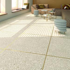 タイル 600角 内装壁床・外装壁用 テラゾー調 ネオ・テラゾ ラパート(半磨き)  送料無料