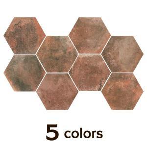 タイル 六角形 内外装壁床用 アンティーク調 フロアヘキサゴン ノンスリップ  送料無料|good-tile